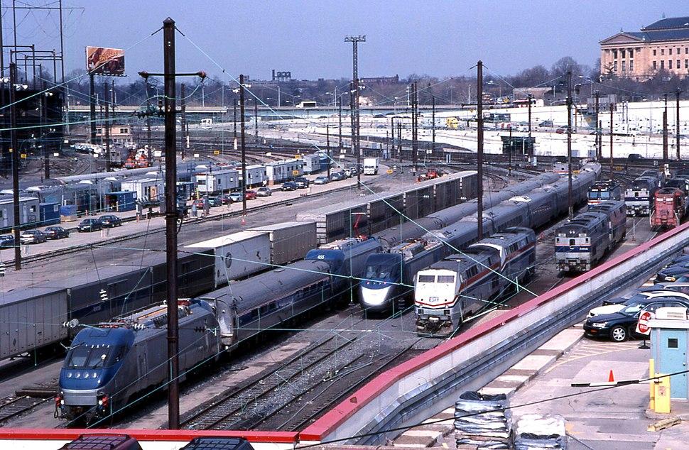 20000308 01 Amtrak Race St. Yard, Philadelphia, PA