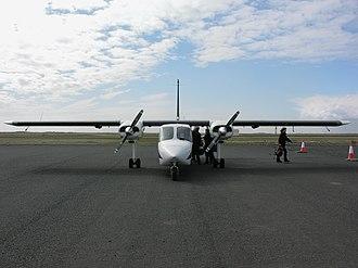 Britten-Norman BN-2 Islander - Front view, on ground