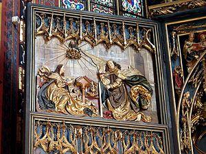 Veit Stoss altarpiece in Kraków - Annunciation