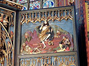 Veit Stoss altarpiece in Kraków - Resurrection of Christ