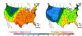 2007-10-07 Color Max-min Temperature Map NOAA.png