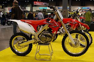 2010 Honda CRF450R at the 2009 Seattle International Motorcycle Show 2.jpg