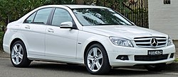 2010 Mercedes-Benz C 200 CGI sedan (Australia)