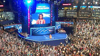 2012 Democratic National Convention - Michelle Obama speaks at the convention