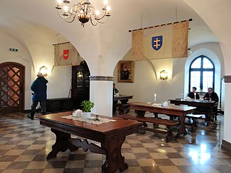Tykocin Castle - Image: 2013 Interior of the Castle in Tykocin restaurant 02