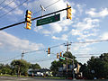 2014-08-27 17 55 12 Intersection of Lawrenceville-Pennington Road (Mercer County Route 546), Federal City Road and Stephenson Road in Hopewell Township, New Jersey.JPG