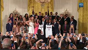Connecticut Huskies men's basketball - 2014 UConn National Championship teams at the White House