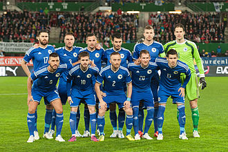 Bosnia and Herzegovina national football team - Bosnia-Herzegovina squad in March 2015 under manager Mehmed Baždarević.