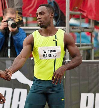 Emre Zafer Barnes - Winston Barnes at the Salzburg Athletics Gala on May 20, 2015.