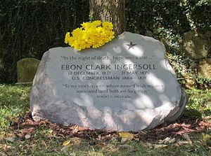 Ebon C. Ingersoll - Gravesite of Ebon Clark Ingersoll, Oak Hill Cemetery (Washington, D.C.)