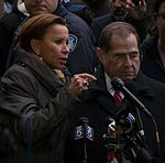 2017-01-28 - Nydia Velazquez and Jerry Nadler at the protest at JFK (81292).jpg