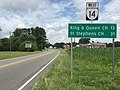 2017-07-05 12 25 44 View west along Virginia State Route 14 (The Trail) at Virginia State Route 33 (Lewis B Puller Memorial Highway) in Shacklefords, King and Queen County, Virginia.jpg