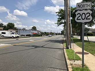 Lincoln Park, New Jersey - US 202 northbound in Lincoln Park