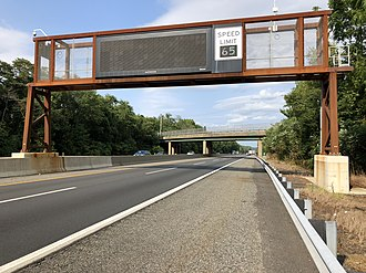 East Greenwich Township, New Jersey - The northbound New Jersey Turnpike in East Greenwich Township