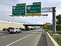 2019-05-29 17 18 30 View south along the outer loop of the Capital Beltway (Interstate 495) at Exit 46B (Virginia State Route 123 NORTH-Chain Bridge Road, McLean) in Tysons Corner, Fairfax County, Virginia.jpg