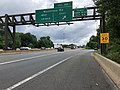 2019-06-18 12 47 21 View north along the local lanes of Interstate 270 (Washington National Pike) at Exit 4A (Montrose Road EAST) on the edge of North Bethesda and Potomac in Montgomery County, Maryland.jpg