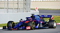 2019 Formula One tests Barcelona, Kvyat (32341574547).jpg
