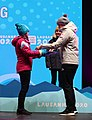 2020-01-19 Cross-country skiing at the 2020 Winter Youth Olympics – Women's Cross-Country Sprint Free – Medal Ceremony (Martin Rulsch) 11.jpg