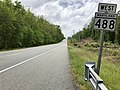 2020-05-21 14 29 09 View west along Maryland State Route 488 (La Plata Road) between Kerrick Drive and Grant Chapman Drive in Waldorf, Charles County, Maryland.jpg