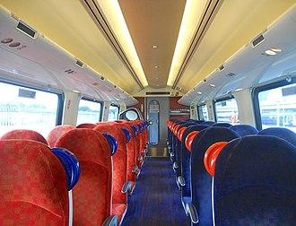 British Rail Class 220 - Image: 220001 Standard Class Interior