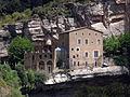 246 Sant Miquel del Fai, casa del priorat, des del camí de l'Ermita.JPG