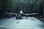 354th TFW A-10 with tug on Myrtle Beach AAF hardstand.jpg