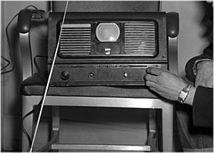 The Queen's Messenger - Three inch early television receiver