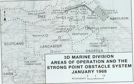 3rd Marines Divisions area of operations and the strongpoint obstacle system