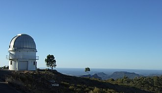 "Harrie Massey - The 40"" telescope dome at Siding Spring Observatory, New South Wales."