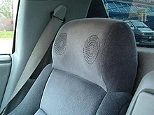 Headrest On The Passenger Seat Of A Pontiac Fiero