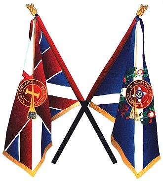 52nd Lowland Volunteers - Image: 52Lowland Colurs