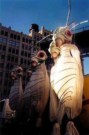 Alex Kahn - Luna Moths, from Alex Kahn's Metamorphosis, from the 1998 NY Village Halloween Parade