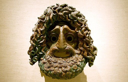7303 - Piraeus Arch. Museum, Athens - Tragic mask - Photo by Giovanni Dall'Orto, Nov 14 2009.jpg