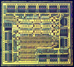 7400 series - Die of a 74HC595 8-bit shift register