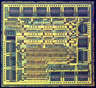 7400-series integrated circuits - Die of a 74HC595 8-bit shift register