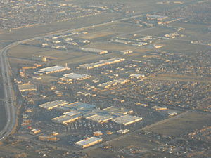 Antelope Valley Mall - The Antelope Valley Mall in the foreground.