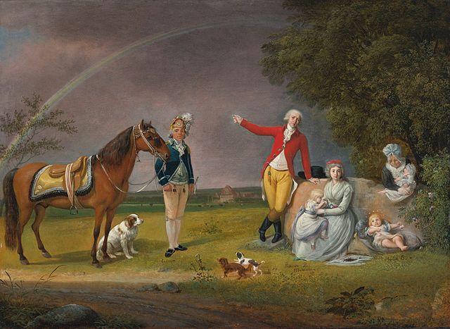 Князь Александр Белосельский с первой женой и детьми, 1790 год