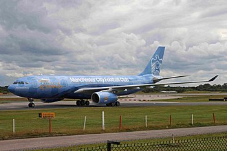 Etihad Airways - Etihad is the sponsor of Manchester City F.C. and has an A330-200 adorned in Manchester City livery.