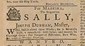 AD - For Madeira, The Brigantine Sally, Joseph Durham, Master, will sail in about three weeks (July 5, 1762).jpg