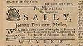 AD - For Madeira, The Brigantine Sally, Joseph Durham, Master, will sail in about three weeks (July 5, 1762).jpg