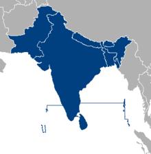 Carte De Voyance Indienne.Sous Continent Indien Wikipedia