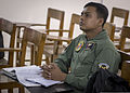 A Bangladeshi airman attends a low-cost, low-altitude airdrop procedure briefing during Cope South 14 at Bangabandhu Air Base, Bangladesh, Nov. 11, 2013 131111-F-SI013-110.jpg