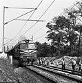 A Budapest-Szob vasútvonal a község Zebegény felé eső határában, pályafelújítás. Fortepan 87394.jpg