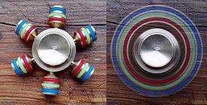 A Fidget Spinner with 6 Blades both Stationary and Spinning.jpg