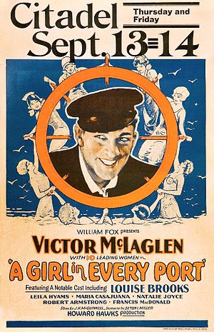 A Girl in Every Port (1928 film) - Film poster
