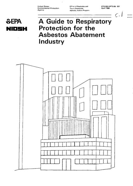 Файл:A Guide to Respiratory Protection for the Asbestos Abatement Industry (NIOSH-EPA 1986).pdf