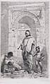 A Moroccan family in front of an arch, father standing, mother lower left on the ground holding a child MET DP876123.jpg