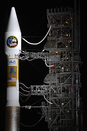 United Launch Alliance - Payload fairing and Centaur upper stage of an Atlas V 411 at Vandenberg AFB
