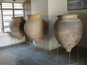 Jar burial - Jars used for burials. (part of an exhibition in Salem, Tamil Nadu)