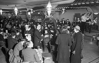 Coventry Street - Diners at the Lyons Corner House on Coventry Street in 1942